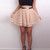 Tiered Mini Skirt - Apricot - Bottom | Lookbook Store