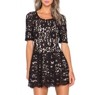dress lace trendy girly short dress cute feminine party elegant classy clothes summer rose wholesale-jan