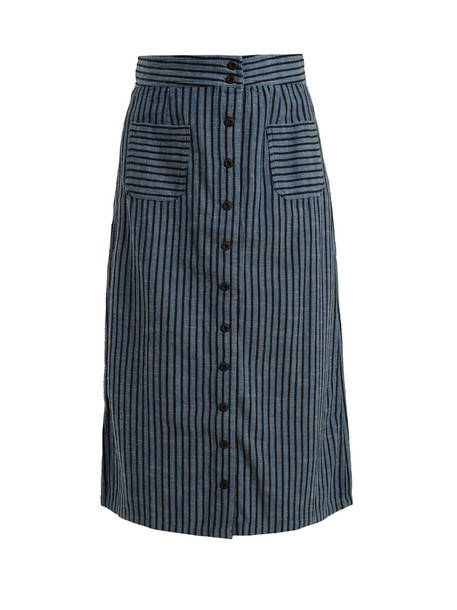 Ace & Jig skirt high cotton blue