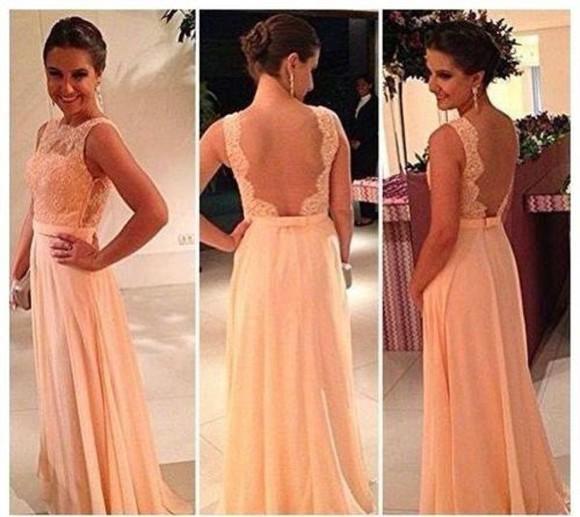 gown backless dress prom dress floor length dress dress drees lace lace dress