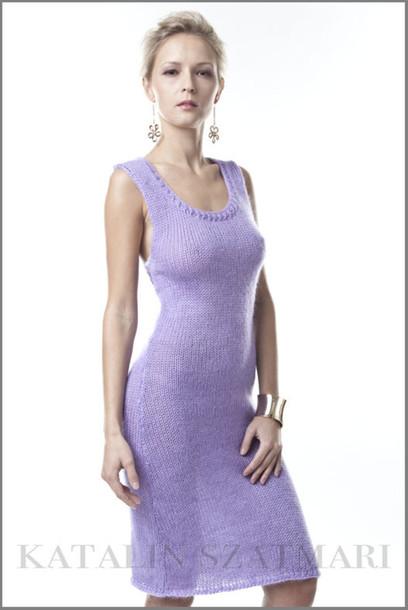 dress lilac dress mohair lilac dress sleeveless dress body hugging dress summer dress bodycon dress knee length dress