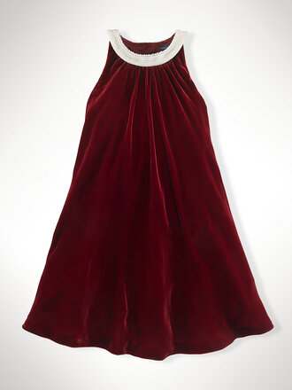 dress red red dress christmas pearl pearl dress ralph lauren velvet burgundy holiday season