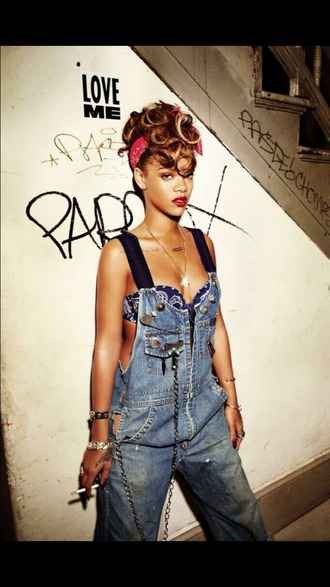 swimwear swag headband salopette jeans fvkin red lips riri