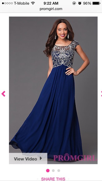 dress prom dress prom long dress beaded dress embellished cap sleeve