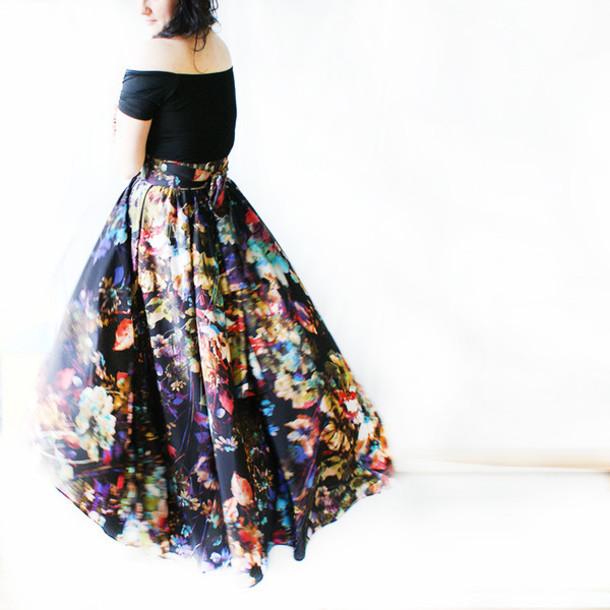 Black Bohemian Skirt 48