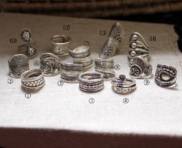 New Nepal Handmade Sterling Silver Rings Series B - Wishbop.com