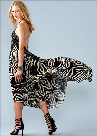 dress zebra print fashion style floral black