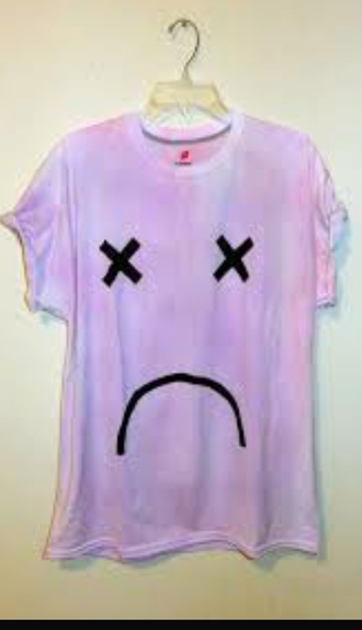 shirt t-shirt oversized t-shirt oversized purple pink shirts smiley face smiley cute shirt goth gothic