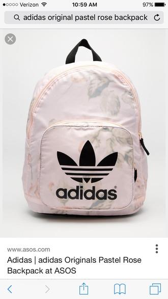 bag backpack adidas adidas originals pastel pink rose