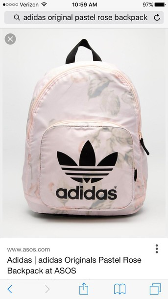665fe4eaad bag backpack adidas adidas originals pastel pink rose