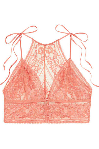 bra soft lace blush underwear