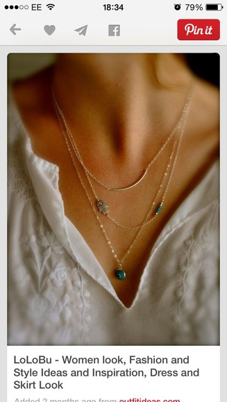 jewels necklace layered necklace fashion