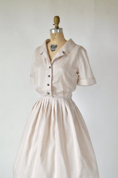 retro white dress 50s style