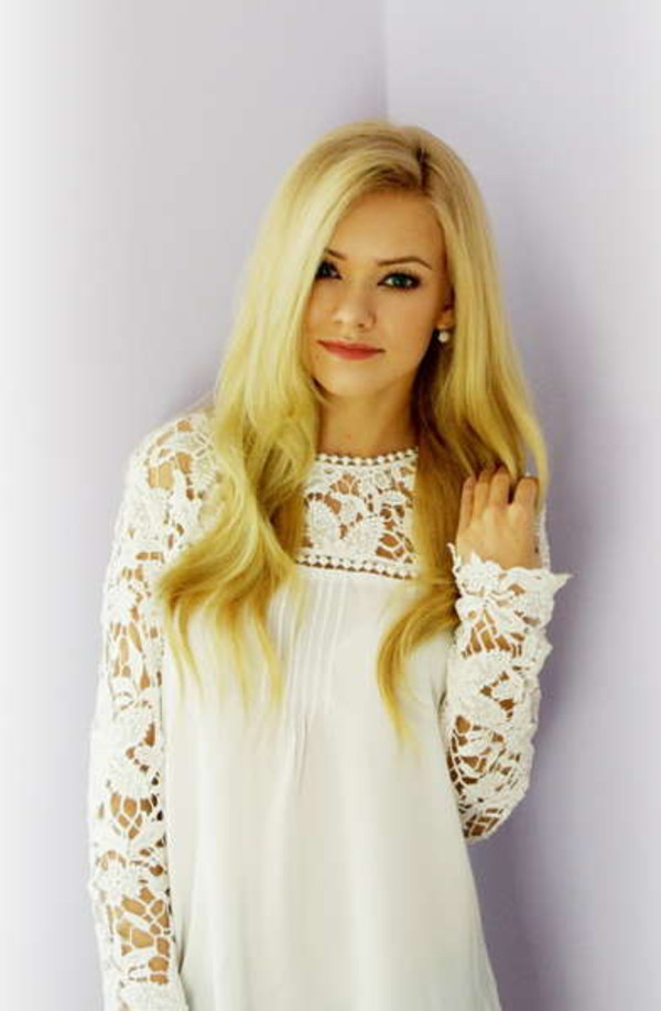 blouse lace cream cream blouse