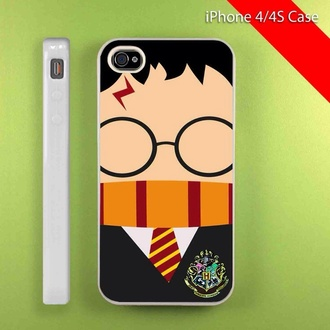 phone cover harry potter phone case iphone case hogwarts griffindor iphone 4 case iphone 5 case iphone cases iphone 4/4's cover iphone 4/4s/5 red glasses harry potter glasses yellow cases case for iphone 4/4s/5