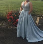 dress,blue,pockets,long dress,prom