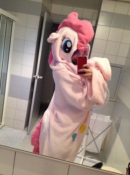 pajamas onesie pinkie pie my little pony character