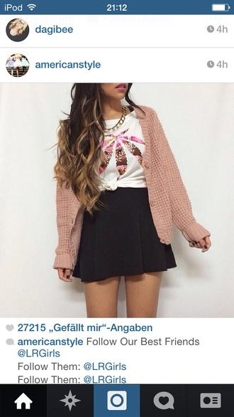 jacket cream color cardigan skirt