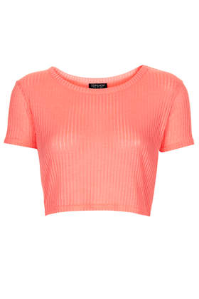 Rib Crop Tee - Tops - Clothing - Topshop