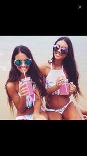 swimwear,coat,white swimwear,summer,hippie,boho,boho chic,vintage,grunge,home accessory,sunglasses,fashion,clothes,t-shirt,shoes,black dress,style,jewels,pants,hair accessory,pink,high-neck,tie dye swimwear,halter neck,bikini,color/pattern,purple sunglasses,teen wolf,teenagers