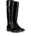 Leather Boots with Zipper Trim in Black from SERGIO ROSSI | Luxury fashion online | STYLEBOP.com