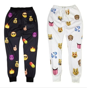 New Emoji Style 3D Print Pants Funny Cartoon Sweatpants Black & White Thicken Long Joggers Trousers Sportswear Female Clothes-in Pants & Capris from Apparel & Accessories on Aliexpress.com | Alibaba Group
