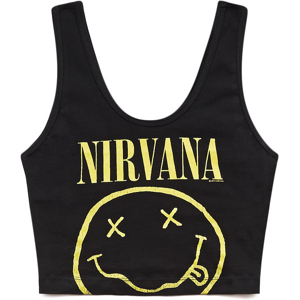 Throwback Nirvana Crop Top - Forever 21 - Polyvore