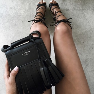 shoes summer  shoes lace up heels sandals strappy sandals black sandals bag