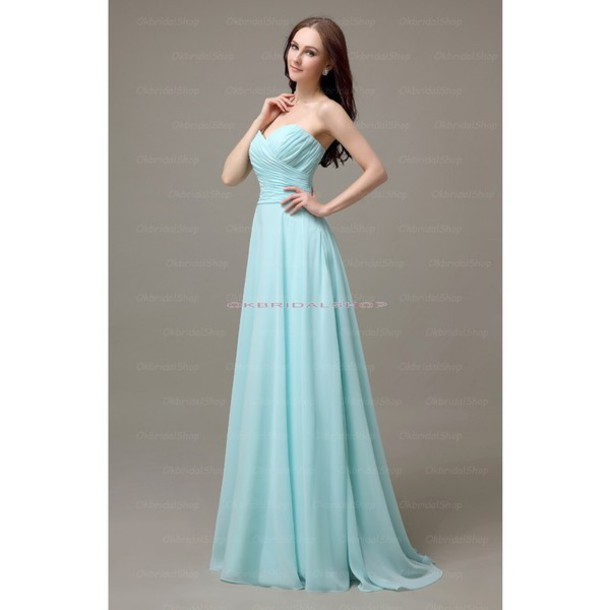 dress bridesmaid long tiffany