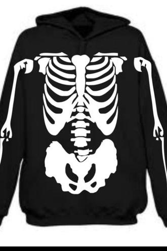 jacket black sweatshirt skeleton