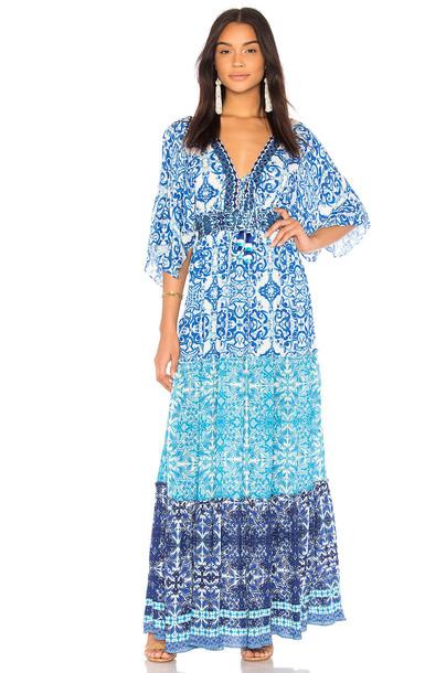 HEMANT AND NANDITA dress maxi dress maxi blue