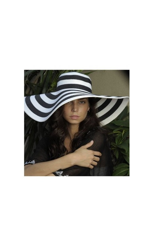 Brim & proper stripe floppy hat