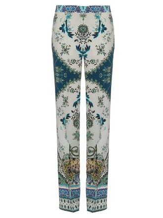 print silk paisley blue pants
