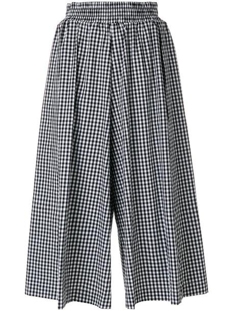 Twin-Set culottes women spandex cotton black pants