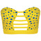 Romwe | blue dot cutout yellow bandeau, the latest street fashion