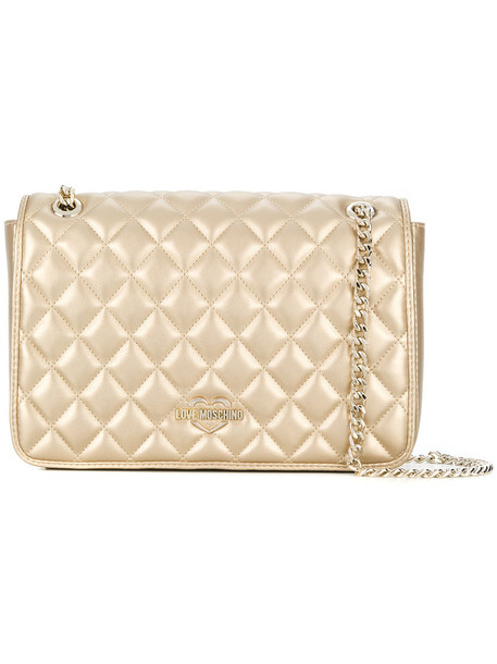 LOVE MOSCHINO women quilted bag shoulder bag leather nude