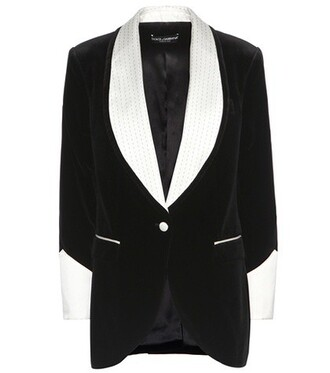 blazer silk velvet black jacket