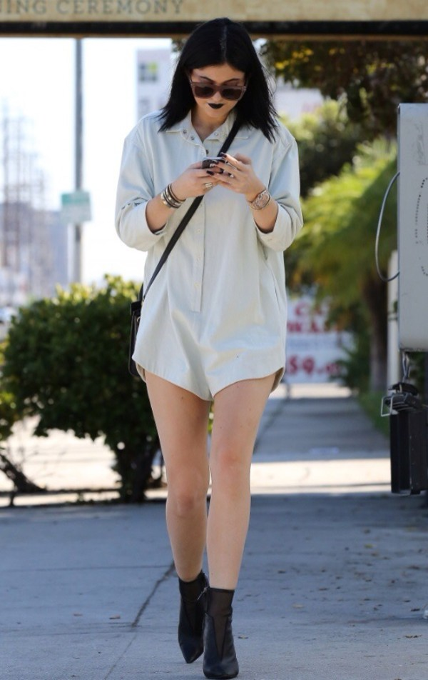 jumpsuit kylie jenner shoes sunglasses