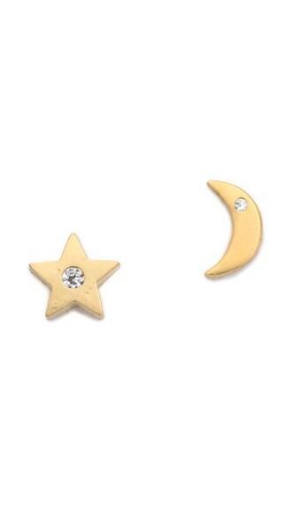 moon earrings gold jewels