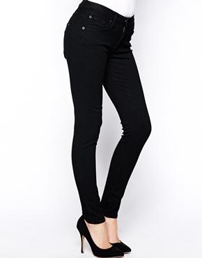James Jeans Twiggy Washed Black Skinny 5 Pocket Legging Jeans at asos.com