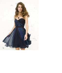 dress grandient chiffon blue dress prom dress