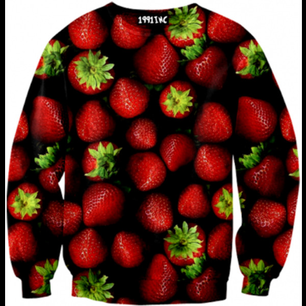 sweater red strawberry sweatshirt