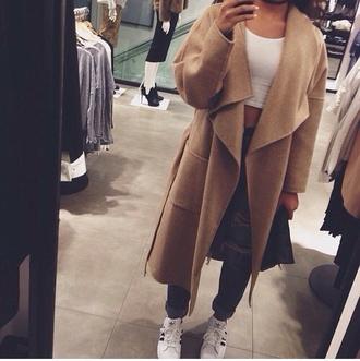 coat zara camel trench coat wool coat