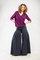 Sale navy wide leg summer dress pants cotton size 6