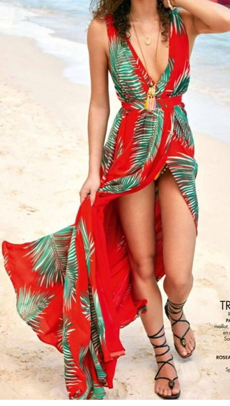 dress hawaiian maxi