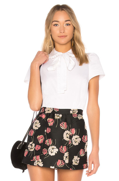 RED VALENTINO top white