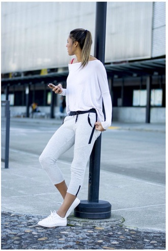 white sneakers sportswear trackies need it in my life