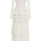 Long sleeve tiered pleat dress   moda operandi