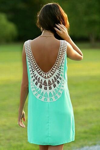dress lace dress neon dress boho chic boho dress summer dress water green streetwear streetstyle