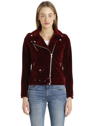 jacket biker jacket velvet